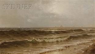 354: Alfred Thompson Bricher (American, 1837-1908) Sail