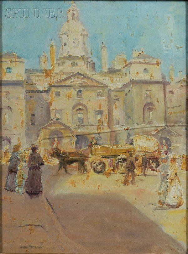 533: Jane Peterson (American, 1876-1965) Market Scene S