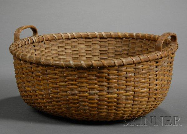 9: Nantucket Basket, late 19th/early 20th century, roun