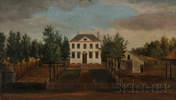 22: American School, Early 19th Century Portrait of the
