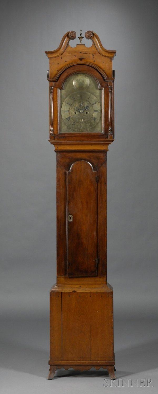 23: Walnut Tall Case Clock by Henry Godshalk, Pennsylva