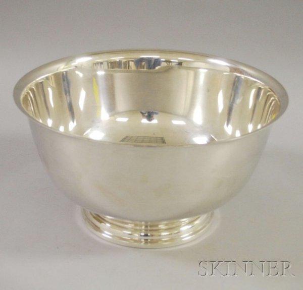 1: International Sterling Silver Punch Bowl, Revere-sty