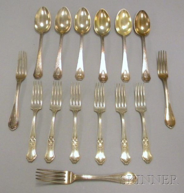 14: Approximately Fifteen Pieces of Silver and Silver P