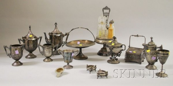19: Thirteen Victorian Silver Plated Serving Items, inc