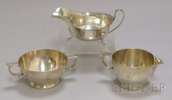 21: Gorham Sterling Silver Creamer and Sugar Bowl and a