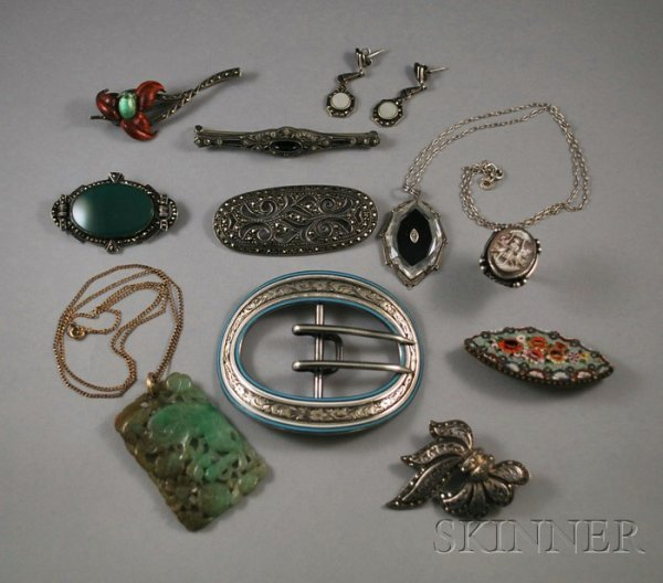 196: Group of Art Deco Marcasite and Other Jewelry Item