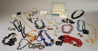 317 Group of Costume Jewelry including two Trifari su