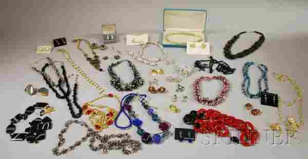 317: Group of Costume Jewelry, including two Trifari su