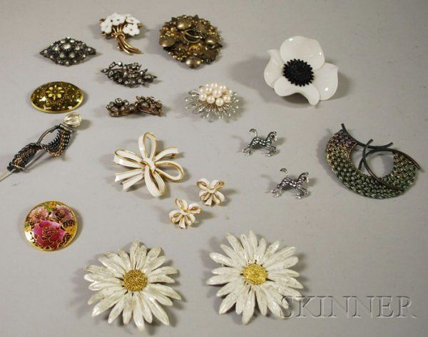 325: Small Group of Costume Jewelry, including two Mich