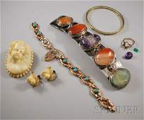 430 Group of Assorted Jewelry Items including an anti