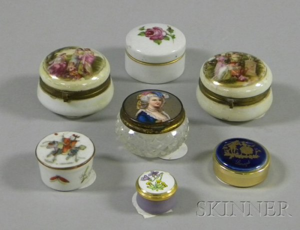 504: Seven Assorted Small Trinket Boxes, including four