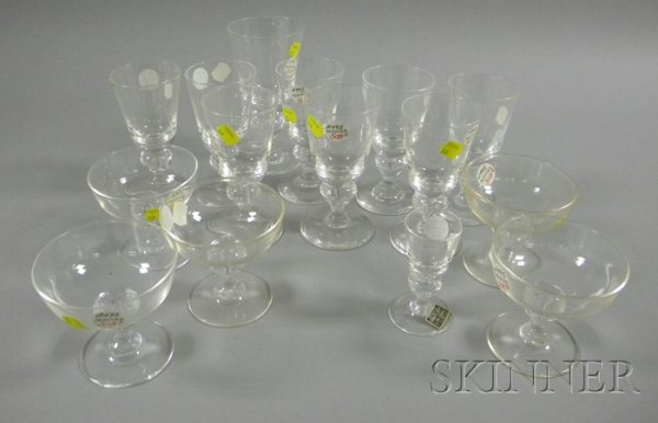 508: Fifteen Pieces of Steuben Colorless Glass Stemware