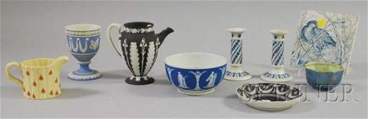 1095: Nine Pieces of Assorted Wedgwood Ceramics, a tran