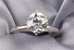 244: Diamond Solitaire, prong-set with an old European-