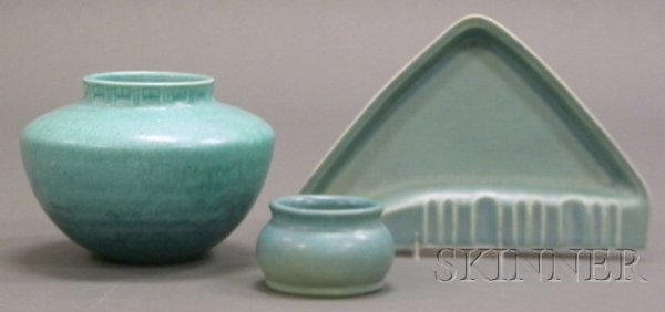 20: Three Pieces of Art Pottery Glazed earthenware Unit