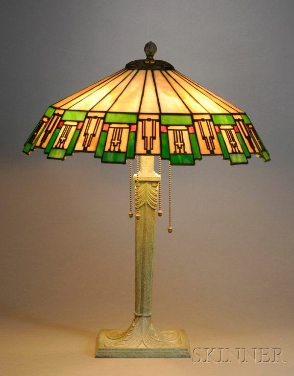 Art Deco Mosaic Glass Table Lamp Mosaic glass and