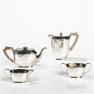 English Four-piece Sterling Silver Coffee and Tea