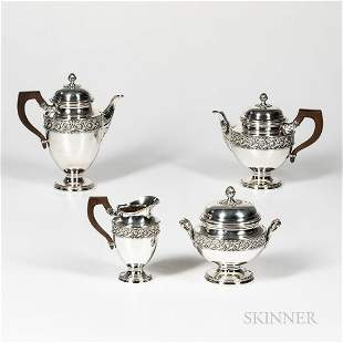 French Four-piece Sterling Silver Coffee and Tea