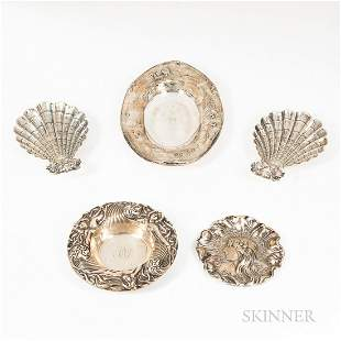Five American Sterling Silver Dishes