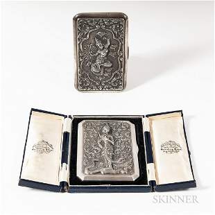 Two Thai Silver Cases