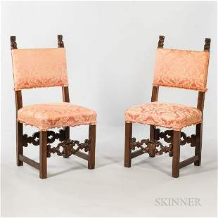 Suite of Eight Cromwellian-style Side Chairs