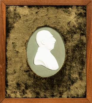 Wedgwood Green Portrait Plaque of the Duke of Connaught