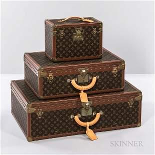 Three Pieces of Louis Vuitton Luggage