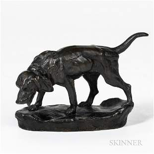 French School Bronze Model of a Hound