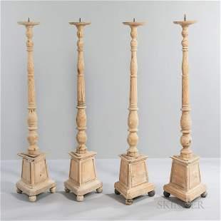 Four Pine Pricket Candlesticks