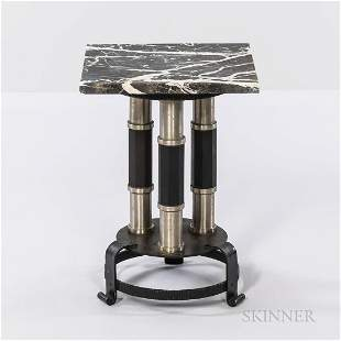 Industrial Table with Marble Top