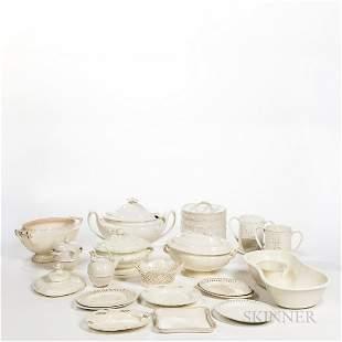Nineteen Creamware Items