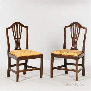 Pair of Georgian Walnut Side Chairs