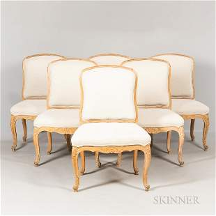 Six Upholstered Louis XVI-style Dining Chairs