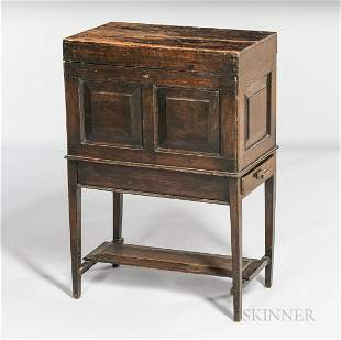 Oak Silver Chest-on-stand