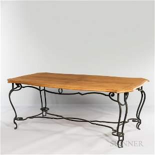 Belgian Oak and Iron Table