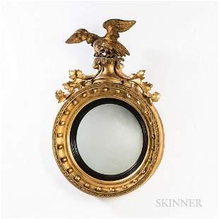 French Girandole Mirror with Eagle
