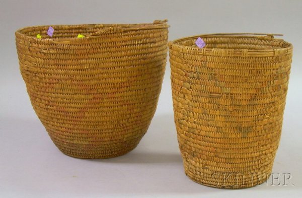 5: Two Southwestern Baskets, one probably Apache, ht. 1