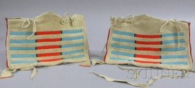 8: Pair of Small Native American Hide Possible Bags, Cr