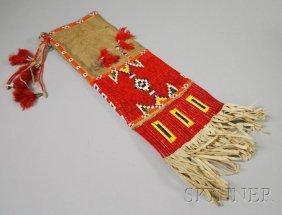 21: Lakota Beaded and Quilled Beaded Pipe Bag. Provenan