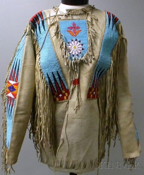 105: Man's Native American Plains Beaded and Fringed Hi
