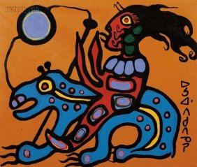 124: Norval (Copper Thunderbird) Morrisseau (Canadian,