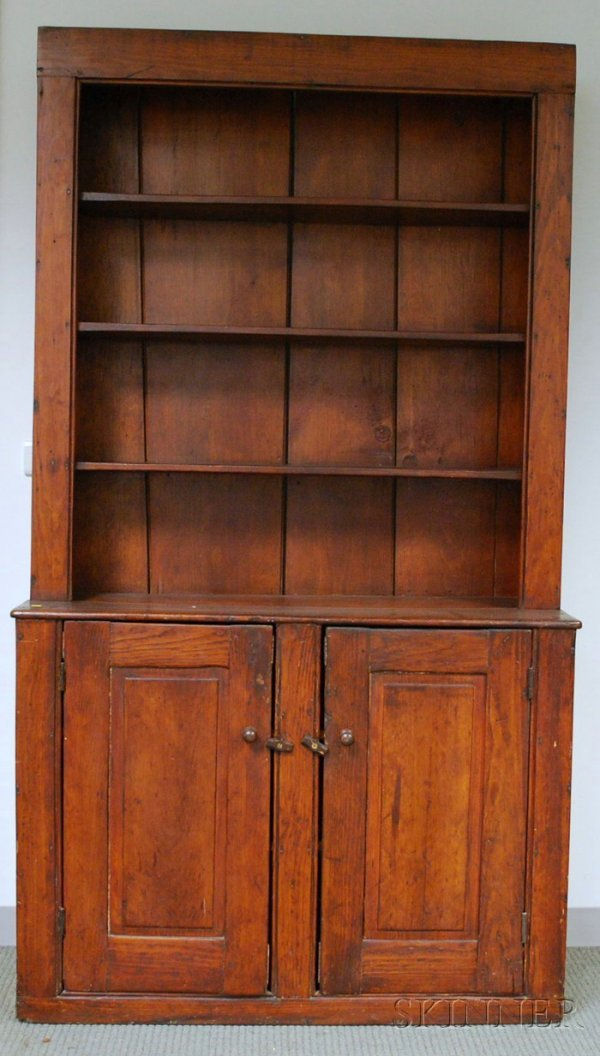 505: Country Pine Step-back Cupboard, ht. 84, wd. 47 in