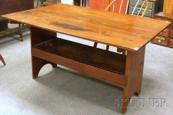 506: Rectangular-top Walnut Hutch Table.