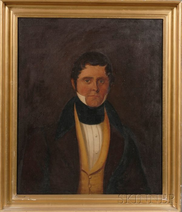 517A: American School, 19th Century Portrait of Gentlem