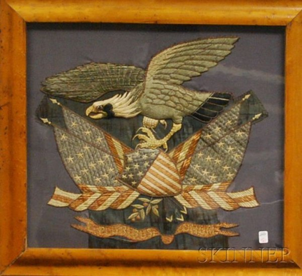 761: Maple Framed Embroidered and Embellished American