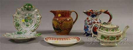924: Six Pieces of Assorted English Decorated Ceramic T