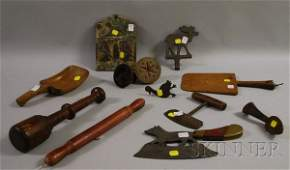 946 Twelve Assorted Wooden and Metal Country Articles