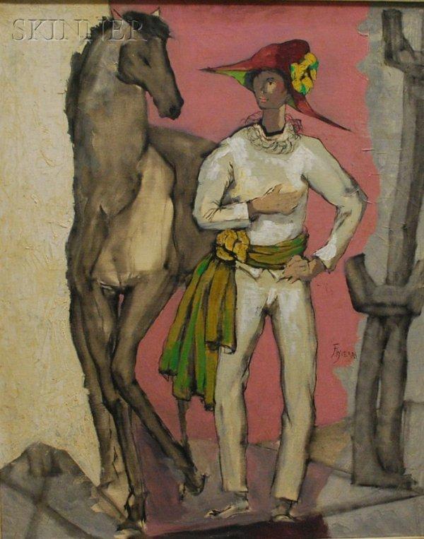 1: Jose Luis Figueroa (Portuguese, b. 1925) Arlequin y