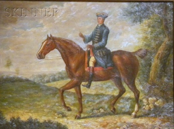 4: British School, 19th/20th Century Gentleman on Horse