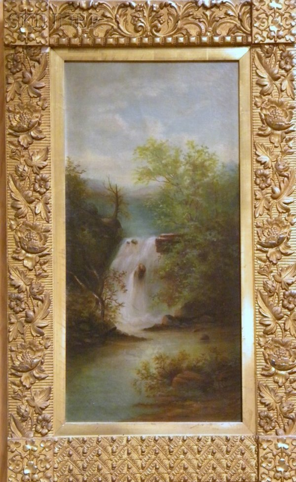11: American School, 19th Century Landscape with Waterf